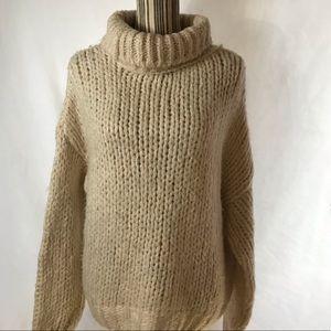 Topshop Oversize Chunky Knit Turtleneck Sweater
